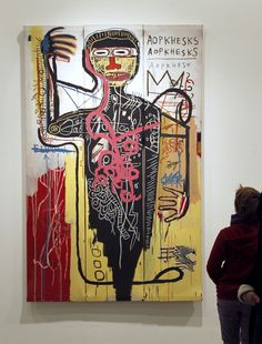 """""""Portrait of the artist as a young derelict"""" by Jean-Michel Basquiat Jean Basquiat, Jean Michel Basquiat Art, Graffiti Art, Basquiat Paintings, Outsider Art, Aliens, Les Oeuvres, New Art, Abstract Art"""