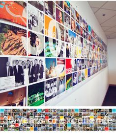Chronological anniversary timeline banner for 30th year anniversary party. Timeline incorporates pop culture in with architectural projects throughout 30 years.