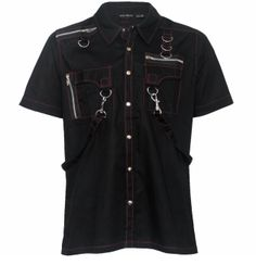 Buy Our Selection of Men's T-Shirts from Attitude Clothing. We Offer Free UK Delivery On Orders Over Rock Outfits, Gothic Outfits, Indian Groom Dress, Black Plaid Shirt, Chica Cool, Apocalyptic Fashion, Alternative Fashion, Shirts, Clothes