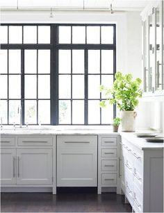 black divided light windows  // Carter Kay Interiors