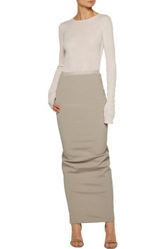 Stretch-crepe maxi skirt   Rick Owens   US   THE OUTNET
