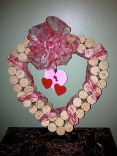 Valentines Cork Heart by BakkCoBottlesandCork on Etsy, $25.00