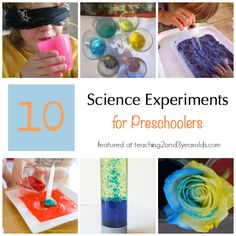 Preschool Science Experiments - Teaching 2 and 3 Year Olds