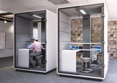 Medium size of pods office near me us pod price uk hush space phone booth acoustic Mini Office, Open Office, Small Office, Bureau Design, Office Interior Design, Office Interiors, Office Designs, Diwan Furniture, Bureau Open Space
