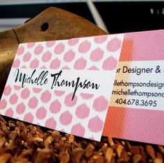 business card or calling card