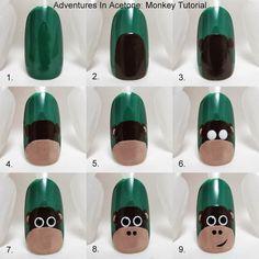 Tutorial Tuesday: Monkey Nail Art!