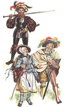 """""""Landsknechts: • Doppelsöldner of the Black Legion, 1520 • Provost"""", Gerry Embleton"""