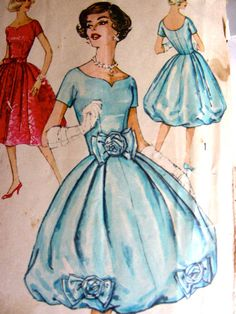 Vtg 1950s Simplicity 2766 Evening party prom bubble by WofaWorld, $19.99 The Dior dress looks like this