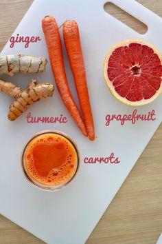 Ginger, Carrot, Turmeric & Grapefruit Juice