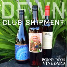 "We are pleased to announce our first release of 2016!   The February shipment includes our 2012 Bien Nacido Syrah ""X-Block,"" 2015 Il Ciliegiolo Rosato, and the 2014 Old Telegram.   DEWN-stahs look forward to your shipment, always delivered with complimentary UPS shipping    #DEWN #wineclub #bonnydoonvineyard  https://www.bonnydoonvineyard.com/wine-club/"
