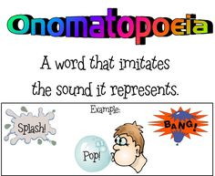 This is a brief example of onomatopoeia