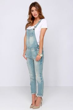 1000+ ideas about Womens Denim Overalls on Pinterest | Overalls Women, Denim Overall Shorts and Overall Shorts