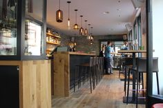 Niche Modern Bar and Restaurant Lighting at Gass 17 in Switzerland
