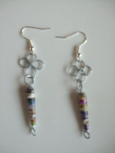Handmade and Handcrafted by Mimi Paper Bead Earrings on Silver Plated French Hooks by MIMI PINTO, http://www.amazon.co.uk/dp/B00A8FIMQ6/ref=cm_sw_r_pi_dp_HjBXqb14SWED6