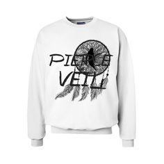 Pierce the Veil Crewneck Sweatshirt ($35) ❤ liked on Polyvore featuring tops, hoodies, sweatshirts, shirts, sweaters, pierce the veil, band merch, crewneck sweatshirt, sweat shirts and sweatshirts hoodies