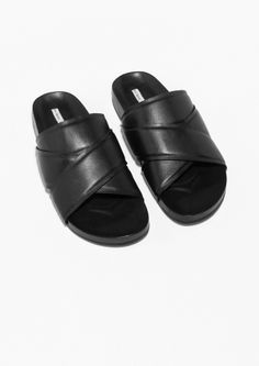 & Other Stories | Cross Strap Slide Sandals