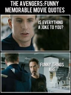 The Avengers Movie: Funny - Enjoy and share them with all your friends. iron man quotes avengers in the best high quality quotes. Iron Man Quotes, Men Quotes, Movie Quotes, Funny Quotes, Quotes Images, Avengers Quotes, Avengers Movies, Marvel Avengers, Avengers Imagines