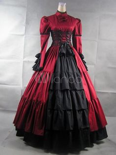 Steampunk - Gothic Stand Collar Poplin Long Sleeves Lolita Dress