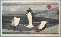 Wonderful block prints by Amano Kunihiro. #art #block_prints #amano_kunihiro