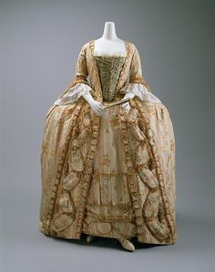 Robe à la Française - Robe à la Française Date: 1775–1800 Culture: French Medium: silk Dimensions: [no dimensions available] Credit Line: Purchase, Irene Lewisohn Bequest, 1961