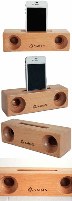 Wooden Sound Amplifier Stand Speaker Phone Holder Dock