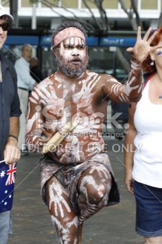 Traditional Aboriginal man Royalty Free Stock Photo