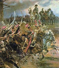 Les Polonais saluent l'Empereur à Somosierra.