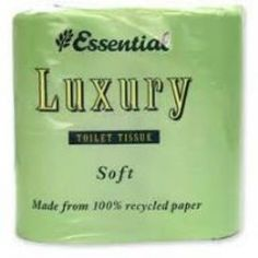 Recycled Luxury Toilet Rolls - Pack of 4 made in Gwynedd and supplied by Green Stationery Co in Somerset - Luxury Toilet, Cleaning Products, Somerset, Recycling, Rolls, Stationery, Packing, Green, How To Make