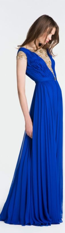 Resort 2014 Reem Acra look All Fashion, Fashion Dresses, Party Frocks, 2014 Fashion Trends, Reem Acra, Royal Blue Dresses, Drama Queens, Red Carpet Dresses, Couture Dresses