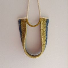 OUCH - Flower 2015 - Woven rope necklace