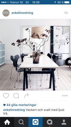 Älskar ljusa golv och svart som kontrast