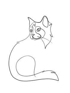 Custom Cat Portrait One Line Drawing Minimal Cat Line Art Custom Cat Gift Cat Art Personalized Cat Art Bespoke Cat Art Single Line Cat Drawing, Drawing People, Drawing Base, Drawing Ideas, Line Drawing Art, Animal Line Drawings, Single Line Drawing, Gesture Drawing, Drawing Tutorials