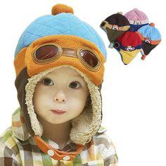 子供帽子 帽子 キャップ 飛行帽 耳あて付き 秋冬 防寒 キッズ 1-4歳子供用 可愛い yu410-mz06