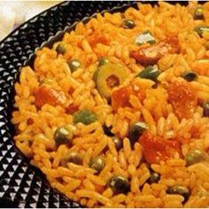 Arroz Con Gandules is a traditional Puerto Rican dish. It& usually made for special occasions. - Arroz Con Gandules (Rice and Pigeon Peas) Pea Recipes, Rice Recipes, Mexican Food Recipes, Cooking Recipes, Ethnic Recipes, Recipies, Dinner Recipes, Couscous Recipes, Pigeon Peas And Rice Recipe