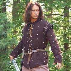 Hey, outlaw, you'd look great in our heavy 2 piece Robin Hood Gambeson. The first piece is a studded corduroy which goes underneath with sleeveless gambeson. This gambeson looks great with a studded belt and outlaw shirt. $139.00 http://www.pearsonsrenaissanceshoppe.com/robin-hood-gambeson.html