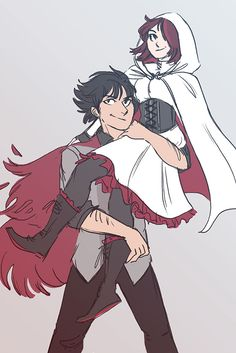 Qrow Branwen and Summer Rose Summer looks like an assassins creed character.