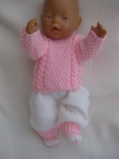 kit sold out Doll Patterns Free, Doll Clothes Patterns, Baby Knitting Patterns, Baby Patterns, Free Pattern, Knitting Dolls Clothes, Crochet Doll Clothes, Knitted Dolls, Crochet Kids Scarf
