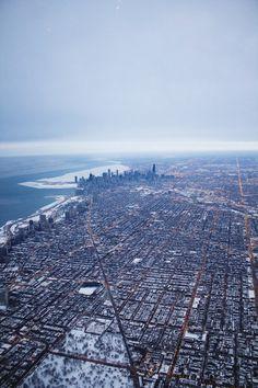 "jefffilmanphoto: ""Flying over Chicaco, IL   Jeff Filman"""