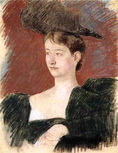 Portrait of a Young Woman in Green, 1898  Mary Cassatt