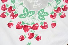 vintage berry tablecloth