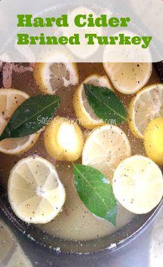 Cider Brined Turkey~ Step One to making the perfect Turkey BRINING ...