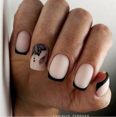 French nails create the visual effect of slender fingers. Now French nails have various color variations. Here we provide a variety of nails that are instantly elegant and make your hands look longer. French Nails, Gorgeous Nails, Pretty Nails, Hot Nail Designs, Romantic Nails, Minimalist Nails, Hot Nails, Best Acrylic Nails, Stylish Nails