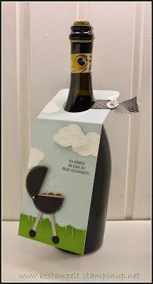 Stampin Up! Flaschenanhänger, Bottle Tag, BBQ, Weber, Grill, Elementstanze Baum, Wolken, Worte, die gut tun