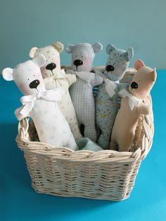 Tilda inspired teddy bears www.guidefordreamers.etsy.com