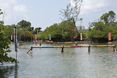 The Immunity Challenge during the second episode of SURVIVOR KAOH: RONG