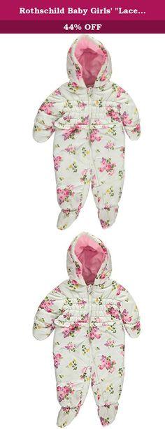 Baby-Girls Diamond Quilt Puffer Pram U.S Polo Assn Pink Moon 3-6 Months