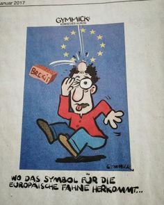 Die Europäische Flagge ... #Brexit #Europa #Flagge #Sterne #Comic #lustig #Witze