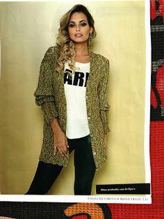 Mania-de-Tricotar: Belo casaco em tricô http://mania-de-tricotar.blogspot.com.br/