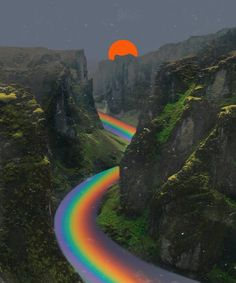 Art Fantasy 10 Surreal rainbow river painting that will amaze your sensation. Incredible artwork you should see. Art Inspo, Kunst Inspo, Inspiration Art, Psychedelic Art, Photo Wall Collage, Collage Art, Collages, Picture Wall, Aesthetic Art