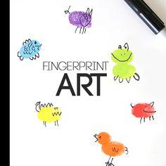 fingerprint art | fun & easy craft for kids